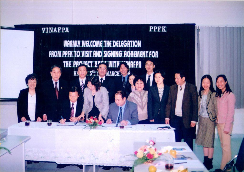 VINAFPA ký hợp tác với PPFK, tổ chức dân số và sức khỏe của Hàn Quốc tại Hà Nội