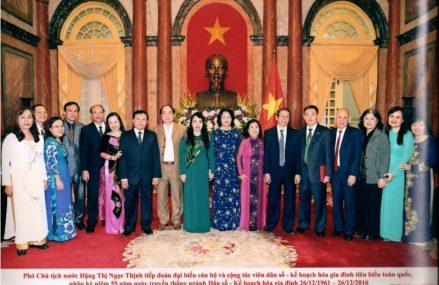Phó chủ tịch nước Đặng Thị Ngọc Thịnh tiếp đoàn cán bộ dân số kế hoạch hóa gia đình tiêu biểu toàn quốc